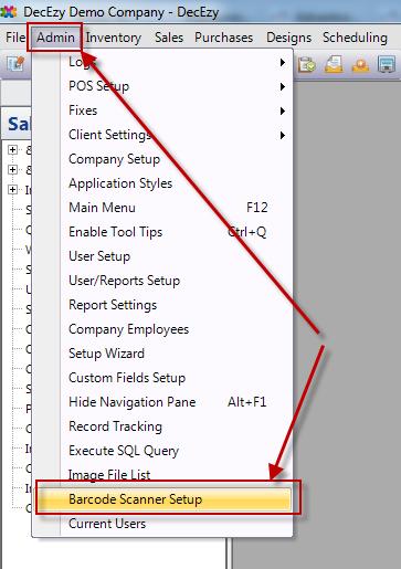 Open Barcode Scanning Setup