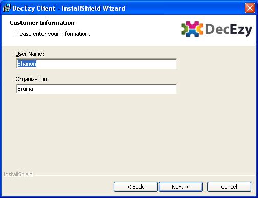 Installer customer information
