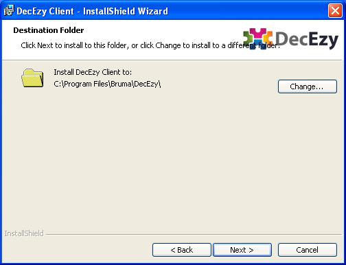 Installer destination folder