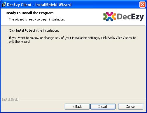 Installer ready for install